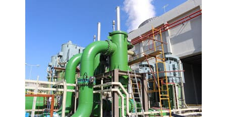 CCPP power plant - start up of 2 x DN 800 KAF Krone Bernoulli filters units
