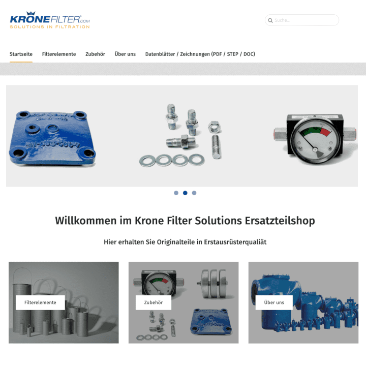 Krone Filter Onlineshop