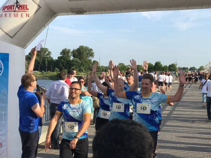 Company charity run event