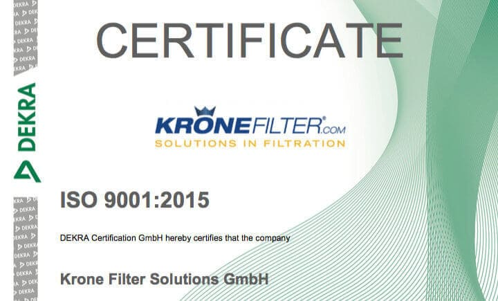 Krone new ISO 9001:2015 recertified on September 19, 2017